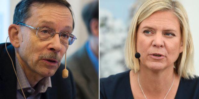 Arkivbilder: Lars Calmfors, Magdalena Andersson.  TT