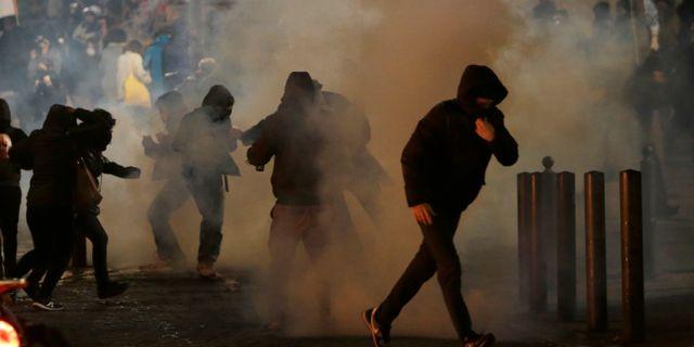 Demonstrationer i Marseille på lördagen. Claude Paris / TT NYHETSBYRÅN/ NTB Scanpix