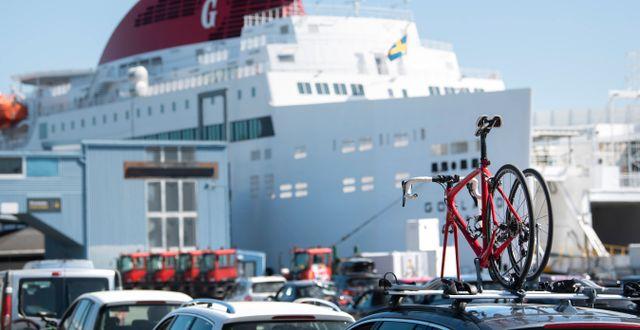 Destination Gotlands färja väntar på passagerare i Nynäshamn/Arkivbild Fredrik Sandberg/TT / TT NYHETSBYRÅN