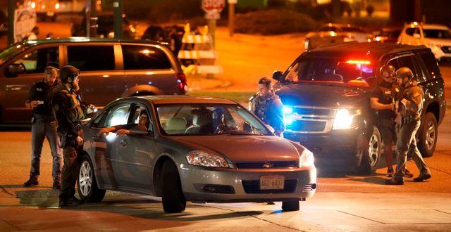 Polisingripande under protesterna i Kenosha David Goldman / TT NYHETSBYRÅN