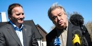 Statsminister Stefan Löfven och FN:s generalsekreterare António Guterres.  Johan Nilsson/TT / TT NYHETSBYRÅN