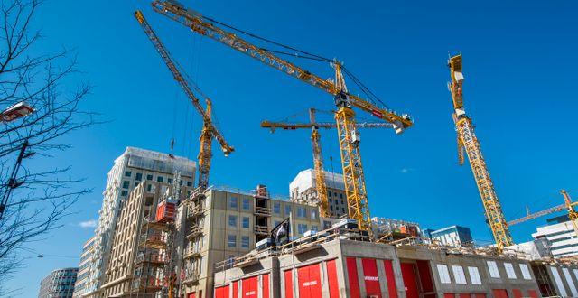 Arkivbild: Nya bostäder byggs vid Torsplan, Hagastaden binder samman Stockholm och Solna. Claudio Bresciani/TT / TT NYHETSBYRÅN