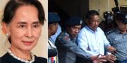 Gärningsmannen  Kyi Lin förs bort av polis. TT