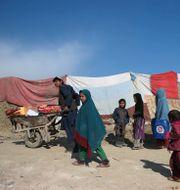 Afghansk familj på flykt.  Massoud Hossaini / TT NYHETSBYRÅN