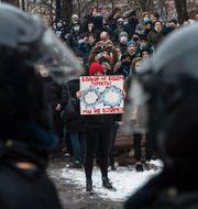 Demonstranter i Ryssland. Palats vid Svarta havet som Navalnyj hävdar byggts åt Putin via ett korrupt upplägg. TT