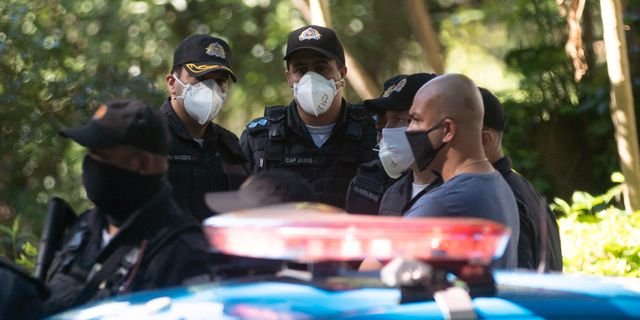 Brasiliansk polis.  Silvia Izquierdo / TT NYHETSBYRÅN