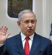 Netanyahu. Abir Sultan / TT NYHETSBYRÅN