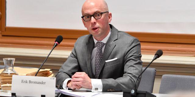 Tidigare infrastrukturministern Anna Johanssons (S) statsekreterare Erik Bromander (S).  Anders Wiklund/TT / TT NYHETSBYRÅN