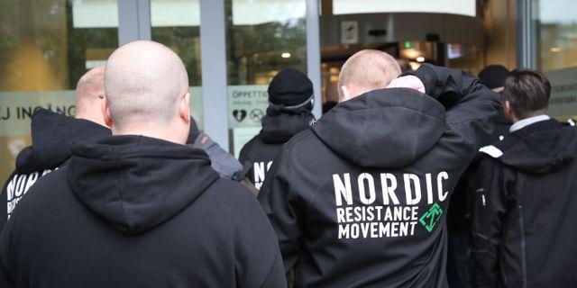 NMR-medlemmar på plats vid rättegången. Adam Ihse/TT / TT NYHETSBYRÅN
