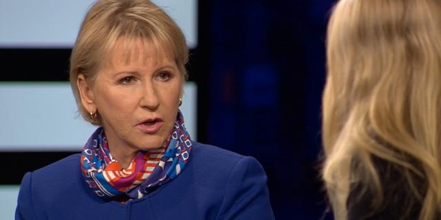 Margot Wallström intervjuas i Agenda. SVT