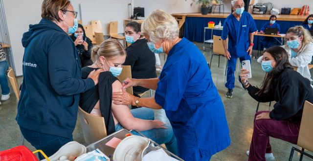 Vaccinering i skola i Norge.  Heiko Junge / TT NYHETSBYRÅN