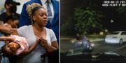 Rayshard Brooks änka och dotter/bild från polisens ingripande. TT