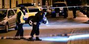 Polisen arbetar på platsen. Johan Nilsson/TT / TT NYHETSBYRÅN