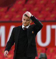 United-tränaren Ole Gunnas Solkjaer hade lite att fundera på efter slutsignalen.  Oli Scarff / TT NYHETSBYRÅN