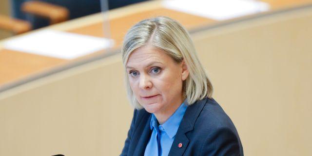 Magdalena Andersson (S) Christine Olsson/TT / TT NYHETSBYRÅN