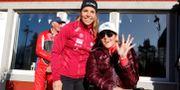 Charlotte Kalla och Anna Holmlund idag. Mats Andersson/TT / TT NYHETSBYRÅN