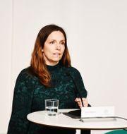 Sara Byfors på dagens pressträff. Carl-Olof Zimmerman/TT / TT NYHETSBYRÅN