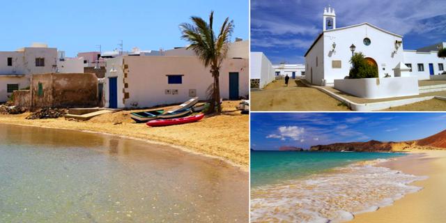 Det tar bara tre minuter att promenera genom huvudbyn Caleta del Sebo. Spain Holiday / Islas del mundo / Hello Canary Islands
