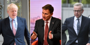 Boris Johnson, Jeremy Hunt och Michael Gove