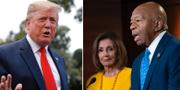 Donald Trump, Nancy Pelosi och Elijah Cummings. TT