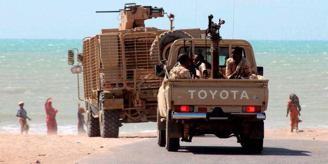 Jemenitiska soldater i hamnstaden Hodeida. SALEH AL-OBEIDI / AFP