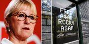 Margot Wallström / Upprop för ett frisläppande av Asap Rocky.  TT