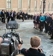 Den nya regeringen fotograferas på Lejonbacken i september 2014. TOBIAS RÖSTLUND / TT NYHETSBYRÅN