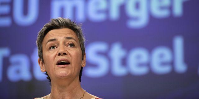 Arkivbild: EU:s konkurrenskommissionär Margrethe Vestager har tidigare stoppat Thyssenkrupps försök att slå sina påsar ihop med andra storbolag.