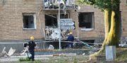 En kraftig explosion inträffade i Linköping i juni. Ett helt bostadshus förstördes.  Jeppe Gustafsson/TT / TT NYHETSBYRÅN