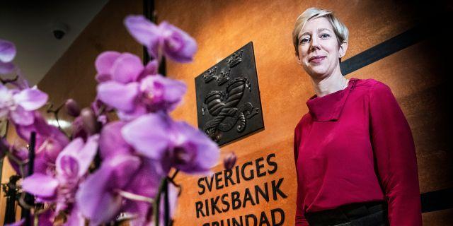 Vice riksbankschef Anna Breman. Tomas Oneborg/SvD/TT / TT NYHETSBYRÅN