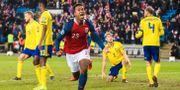 Ola Kamara jublar efter att ha nickat in 3–3. JON OLAV NESVOLD / BILDBYRÅN NORWAY