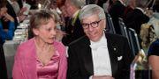 Anna Wersäll, partner till riksmarskalk Fredrik Wersäll och Paul M Romer, Nobelpristagare i ekonomi, under Nobelbanketten i Stadshuset i Stockholm, 2018. Janerik Henriksson/TT / TT NYHETSBYRÅN