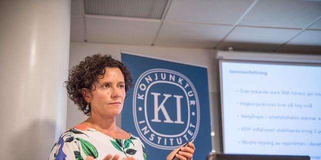 Ylva Hedén Westerdahl, prognoschef vid Konjunkturinstitutet. Bezav Mahmod/SvD/TT / TT NYHETSBYRÅN