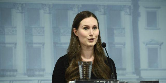 Finlands statsminister Sanna Marin. EMMI KORHONEN / TT NYHETSBYRÅN