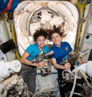 Astronauterna Jessica Meir och Christina Koch, 2019. TT NYHETSBYRÅN