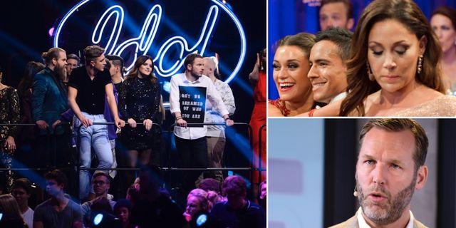 Bild från TV4-produktionerna Idol och Let's Dance/Telias vd Johan Dennelind. TT