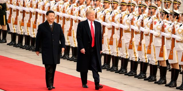 Xi Jinping och Donald Trump. Andrew Harnik / TT NYHETSBYRÅN/ NTB Scanpix