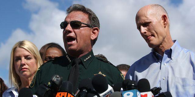 Polischefen Scott Israel under en pressträff.  MARK WILSON / GETTY IMAGES NORTH AMERICA