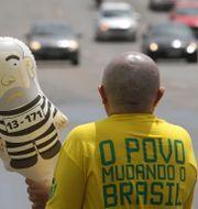 Protest mot expresidenten Lula da Silva. Eraldo Peres / TT / NTB Scanpix