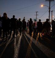 Protesten efter senaste dödsskjutningen. Christian Monterrosa / TT NYHETSBYRÅN