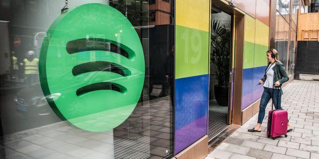 Spotify presenterar sitt nya huvudkontor i Stockholm i  augusti 2018. Lars Pehrson/SvD/TT / TT NYHETSBYRÅN