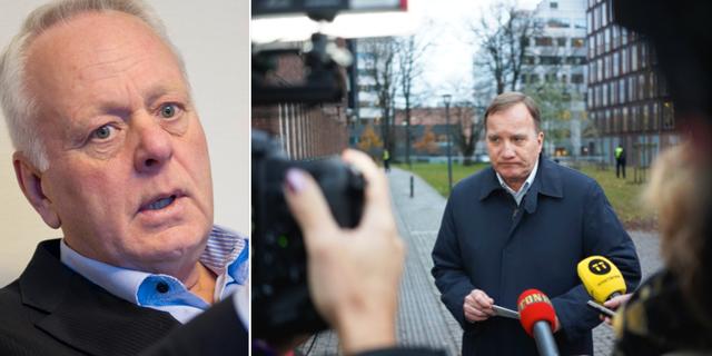 Göran Dahlström och Stefan Löfven. TT