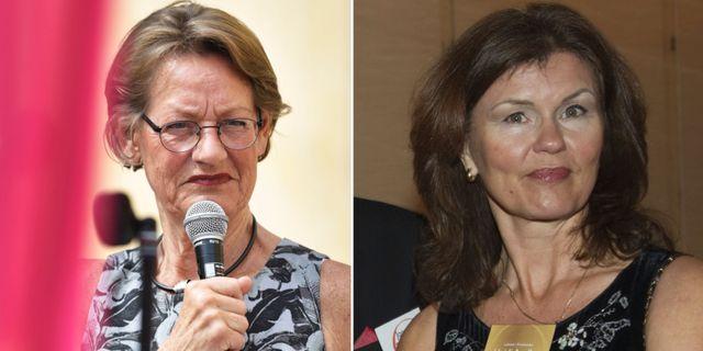 Arkivbild: Gudrun Schyman och Heidi Avellan. TT