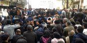 Demonstranter i staden Sari i Iran.  Mostafa Shanechi / TT NYHETSBYRÅN