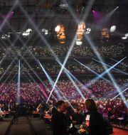 Finalen av årets Melodifestivalen, den 7 mars på Friends Arena. Pontus Lundahl/TT / TT NYHETSBYRÅN