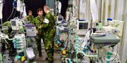Försvaret förbereder extra intensivvårdsplatser i Älvsjö. Jonas Ekströmer/TT / TT NYHETSBYRÅN