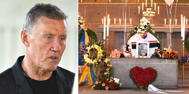 Börje Salming på Frank Anderssons begravning. TT