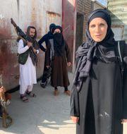 Nytagen bilden på Clarissa Ward i Kabul. Brent Swails / TT NYHETSBYRÅN