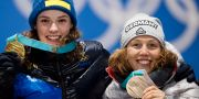 Dahlmeier (t h) tog brons i OS 2018 när Hanna Öberg tog hem guldet.  JON OLAV NESVOLD / BILDBYRÅN NORWAY