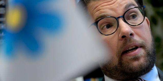 Jimmie Åkesson (SD) inför partiets landsdagar i Örebro. Janerik Henriksson/TT / TT NYHETSBYRÅN